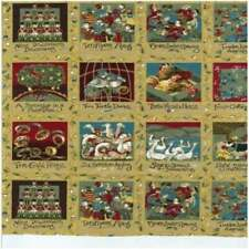 12 Days of Christmas Holiday Panels 100 Cotton Quilting Fabric Nutex 78 Panels