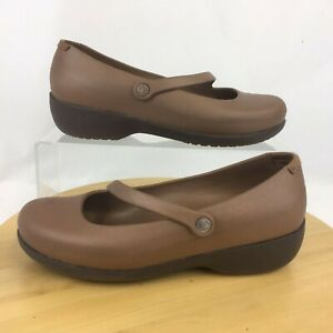 Crocs Rx Medical Silver Fox Mary Jane Shoes Womens Size 10 Brown Bronze Croslite