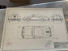 Porsche 356 A Speedster 1956 Konstruktionszeichnung/ Blueprint.