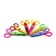 6x Kids Stationery Scissors Photos Card Paper Cutting Lace Edge Shape Cut Tool