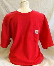 Carhartt K87 Workwear Pocket Short-Sleeve T-Shirt - Red Large