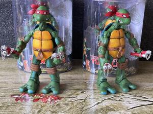 "6"" NECA TMNT Teenage Mutant Ninja Turtles Action Figures Red MICHELANGELO Toy"
