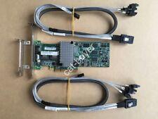 IBM M5015 LSI 2108 Controller RAID 5 512MB 6G PCIe x8+ 2pcs 8087 to 7pin Cables