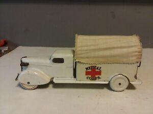 "VINTAGE WYANDOTTE MEDICAL CORPS TRUCK STEEL TOY 12"" LONG"