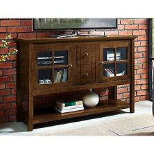 We Furniture W52C4CTWT 52In Wood Console Table Buffet Tv Stand-Walnut NEW