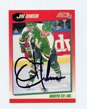 JIM JOHNSON NORTH STARS AUTOGRAPH AUTO 91-92 SCORE CANADIAN #52 *56457