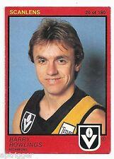1982 Scanlens (20) Barry ROWLINGS Richmond