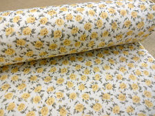 COTTON PRINT FABRIC +++ TEA ROSE ++ YELLOW