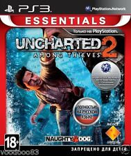 Uncharted 2: Among Thieves (PS3, 2009) Russian,English,Spanish,Polish,Portuguese