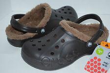 NWT CROCS BAYA LINED ESPRESSO brown BLACK NAVY 4 5 6 7 8 9 10 11 12 CLOGS shoes