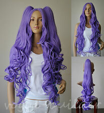 2 CURLY  lavender Purple PONYTAILS COSPLAY WIG Lolita