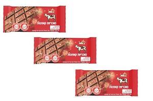 3x Milk Chocolate With  Pop Rocks Kosher Para By Elite Israel 90g