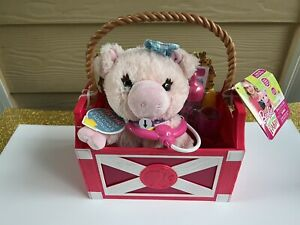 Barbie Sweet Orchard Farm Pet Doctor Set With Plush Pig  Sounds and light    L16