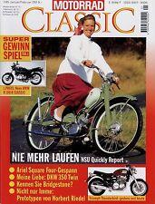 Motorrad Classic 1/95 1995 Ariel Square Four Bridgestone DKW RT350 Imme Quickly