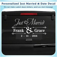 Personalized custom Just Married Date Art Wall Vinyl Decor Sticker Decal 101