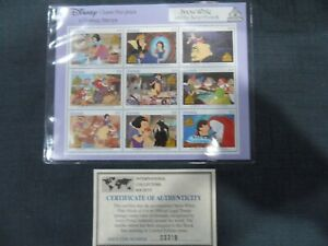 GRENADA SNOW WHITE AND THE SEVEN DWARFS SHEETLET OF 9 STAMPS UNMOUNTED MINT