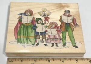 CHRISTMAS VICTORIAN Carolers Rubber Stamp Stamps Happen
