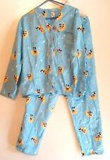 Disney Mickey Mouse On the Moon Top Pants PJ Set NWT Flannel Pajamas Blue womens