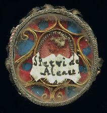 old relic theca + document S.PETRI DE ALCANTARA  18Th.