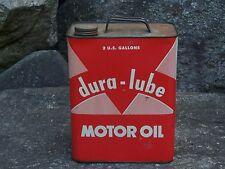 Vintage Dura - Lube Motor Oil 2 Gallon Metal Can,  Leonard, Alma Michigan  ?