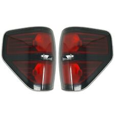 2009-2014 FORD F-150 SVT Raptor Left & Right Black Tail Lights w/ Light Bulb(s)