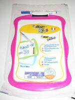 Ardoise Velleda BIC Spéciale Kids Rose + Crayon 19x26 cm Effacable à Sec NEUF