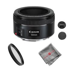 Canon EF 50mm f/1.8 STM Lens with 49mm UV Filter + Cleaning Cloth