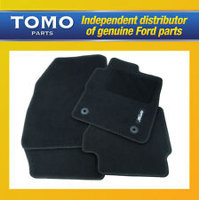 New Genuine Ford Fiesta 2008 Onwards Front & Rear Black Carpet Mats 1947554