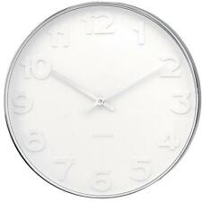 Large Karlsson Wall Clock Mr. White Numbers Steel Case 51cm