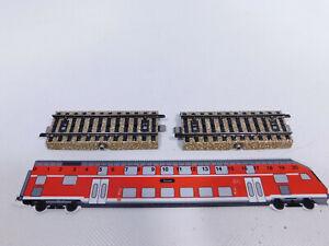 CQ896-0,5# 2x Märklin H0/AC Kontaktgleis M-Gleis für 7050/450 Andreaskreuz, s.g.