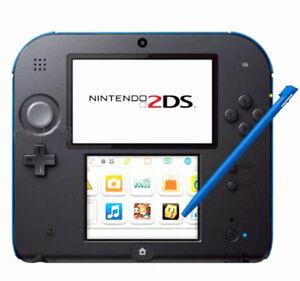 4pcs Stylus For Nintendo 2DS Slot in Touch Pen Set Red Blue White & Black WL