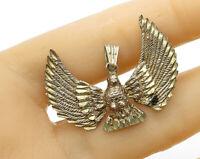925 Sterling Silver - Vintage Petite Holy Spirit Drop Pendant - P2586