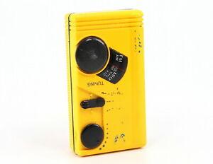 GE 7-1990-YLA Pocket Portable AM/FM Radio BAD Battery Cover