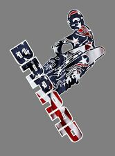 Braaap Motocross USA sticker, 10x7 dirt bike, trailer decal, motorcycle decal