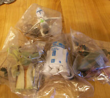 Star Wars The Clone Wars  Hungry Jack's Toys Set , NEW STILL IN THERE BAGS 4 oFF