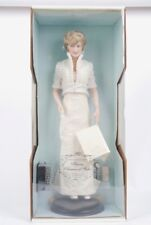 DIANA, PRINCESS OF WALES PORCELAIN PORTRAIT DOLL, FRANKLIN MINT, NEW IN BOX