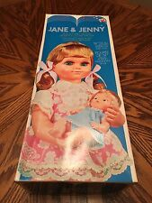 """JANE & JENNY 19"""" Doll And 6"""" Baby ROCKING MOTION Musical Lullaby VINTAGE Dolls"""