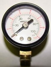 """1pc. Videojet SP206316 1-1/2"""" Vacuum Gauge 0-100 PSI, Used"""