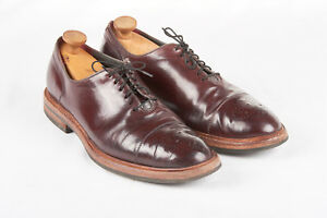 Mens COLE HAAN Shoes 10 1/2 D in Burgundy Hawkins Premium Collection Brogue Toe