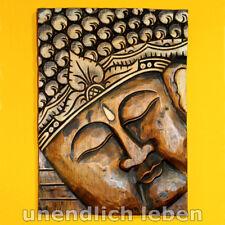 BUDDHA Holz Wandbild Wand Bild Relief Wandschmuck Holzbild Siddhartha Gautama