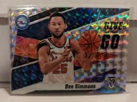 2019-20 Panini Mosaic Ben Simmons Give And Go Silver Mosaic Prizm 76ers 2