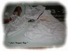 Kitchy Intimates-Size 16C-Sheer Lace-U/W Bra & Undiesi Set-White-BNWT