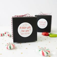 "10x Christmas 3"" Black Cookies Boxes XMAS Gift Box Sweets Cupcake Chocolate"