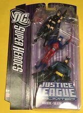 JLU 3-Pack HUNTRESS Batman ATOM Justice League action figures DC UNIVERSE Mattel