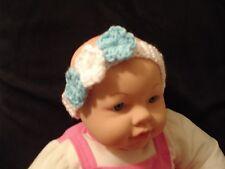 Handmade Crochet Baby Girl Flowers Headband for 6-9 month-old