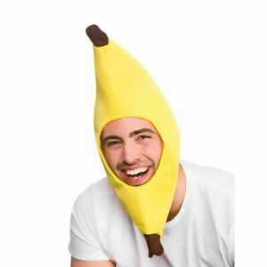 Adult BANANA HAT Funny Novelty Freshers Party Stag Fruit Accessory Fancy Dress