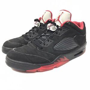 Nike Air Jordan 5 Retro Low Alternate 90 bred mens shoes 819171-001 size 13