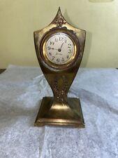 Unusual Sessions Brass Case Clock Circa 1920
