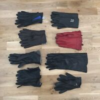 Lot Of 8 Pair Vintage 80s 90s Women's Leather Motorcycle Riding Gloves Assorted