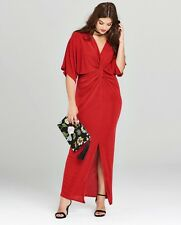 Simply Be Red Kimono Knot Front Dress Size 18 Worn Once